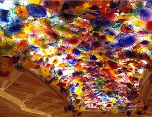 شحن مجاني فانسي في مهب زجاج مورانو شنقا لوحات كيلي دايل ستايل متعدد الألوان زجاج مورانو الثريا المعلقة 2020