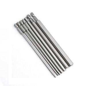 """10pcs 150mm lang 1/4"""" Hex Shank Magnetischer Sechskant-Schraubendreher-Bits elektrischer Sechseck Schraubendreher 2,5 Bit / 3/4/5/6/8/10 mm"""