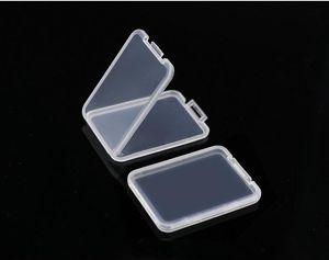 slim SD card case Plastic box Transparent Standard Holder MS white box Storage Case for TF micro SD XD CF card SN2587