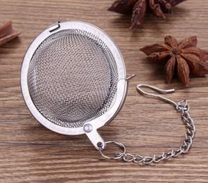 Stainless Steel Tea Pot Infuser Sphere Mesh Tea Strainer Filler Ball Strainer Ball 4.5cm DHL Free Shipping