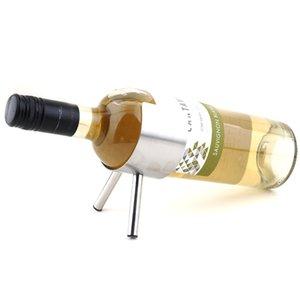 1PC nuovo vino del metallo cremagliera 1 Bottiglie Parete Wine Bar portabottiglie bagagli Rack promozione all'ingrosso