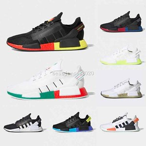 2020 Aqua Tones Munich NMD R1 V2 Mens Running Shoes hu Human Race XR1 Pharrell Williams Core Black Men Women Sports designer Sneakers