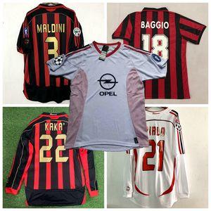 1991 1992 1996 1997 2002 2003 2005 2006 2007 Retro AC soccer jersey WEAH BAGGIO KAKA MALDINI INZAGHI PIRLO milan VINTAGE football shirt