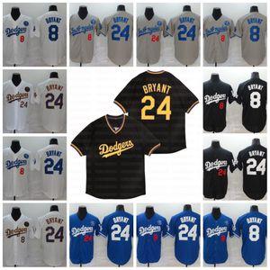 Los Ángeles 8 24 KB Bryant Jersey Negro Mamba béisbol cosido cosido Nombre Número Fast Sthipping En Stock