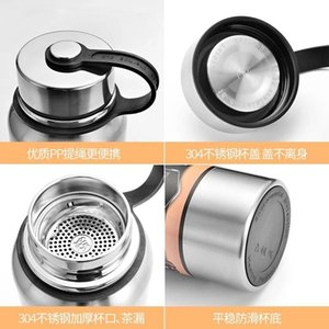 304 vacuum stainless steel heat preservation cup portable outdoor sports kettle custom logo lettering 1000ml