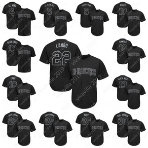 2019 Oyuncular Weekend Jersey Jake Kuzu LAMBO Ketel Marte EL NINO David Peralta Yük Treni Adam Jones KÖK Bradley Beyzbol Jersey