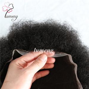 Ordine Stock arricciatura di Afro uomini toupee svizzero di base del merletto dei capelli umani disegno fatto a mano