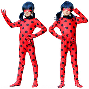 Ladybug Girl clothes children's Wig role play ladybug Reddy animation clothing wig cosplay performance clothing