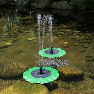 1pc OT foglio del loto Fontane Solar Power Birdbath di galleggiamento Pompa fontana di pesce per piscina Garden Pond Decoration