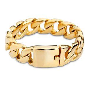 Cross-border e-commerce explosion model jewelry wholesale extra thick titanium stainless steel bracelet