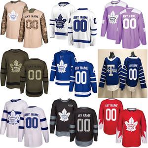 2019 Noticias Toronto Maple Leafs Jerseys de hockey Múltiples estilos Hombres Personalizado Cualquier nombre Cualquier número Jerseys de hockey
