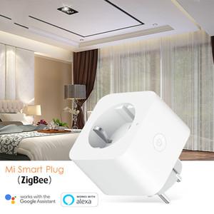 Plug Mijia EURO Mi version de Smart Wi-Fi del enchufe del zócalo de la UE Zigbee multifuncional de puerta de enlace de control remoto de APP