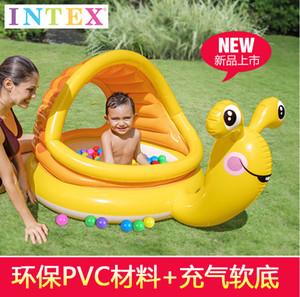 Intex57124 Salyangoz Şişme Yüzme Havuzu yuvarlak Güneşlik Havuz Bebek Küvet Saç bir Nesil