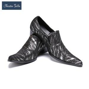 Christia Bella vestito da affari moda scarpe partito e cerimonia nuziale degli uomini dei fannulloni Plus Size uomini scarpe tacco alto Fase Celebrate