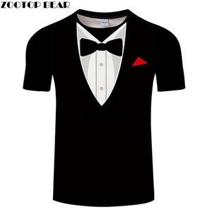 -Shirs - Wih A Tie Travel Men Vacation t-shirt Bow Tie T Men Top Tees Short Sleeve Streetwear 6XL Drop ship