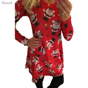 Winter Autumn Christmas Dress Women Plus Size Print Dress Midi Snowflake Long Sleeve A Line Party Dress Female Designer Clothes