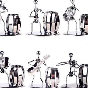 Pen Container Iron Music Homem De Ferro Tubo De Cobre Banda Tubular Penrack Mobiliário Doméstico Estudo Escritório Recipientes Decorar Ornamento 6 9 m t p1