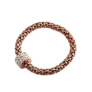 Men's Bracelet Punk Hip Hop 316L Stainless Steel Rose gold Elastic Corn Bracelet chain Accessories For men women fashion jewelry