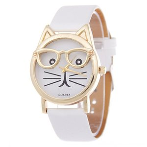 Cute Cat Womens Quartz Watches Kids Wristwatch Sports Gloves Athletic & Outdoor Accs Gifts Relogio Feminino Clock Women Ladies Dress Watches