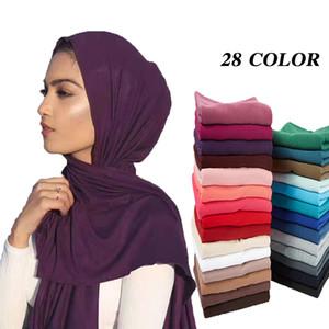 10pcs / lot Frauen muslim Jersey Hijab Schal Foulard femme Größe plus Hijabs islamische Schals soild Modal Kopftuch für Frauen