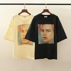 ARNOLD Leonardo Portrait 3D Direct Injection Loose Street t shirt Hot t shirt Wash Old Short Sleeves