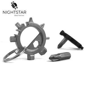 Werkzeuge 12in1 Multifunktions-Schraubendreher beweglicher Fahrrad-Reparaturhandwerkzeuge Multifunktionsschraubenzieher Inbusschlüssel Ringtool / Random Color
