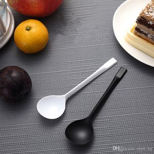 Unabhängige Verpackung Einweg-Kunststoff-Löffel Runde Dessert Suppenlöffel Frosted Löffel Restaurant Bar Einweg-Geschirr Küche Geschirr