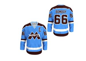 Couleurs Gordon Bombay Waves Hockey Jersey NOUVEAU point Sewn Les canards puissants ondulent Cousu College Hockey Maillots