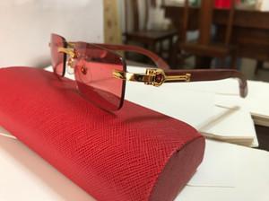 2019 ankunft Buffalo Brille Sonnenbrille Für Frauen MensRimless Vintage Urlaub Cat Eye Stil Buffalo Horn Brille Beliebte Brillen