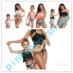 2020 سمر نساء أطفال 2 قطعة بيكيني Sets العلامة التجارية خزان سباحة الملابس الداخلية ملابس سباحة أب الطفل بيكيني بدلة Beachwear Suit S-XL LY413