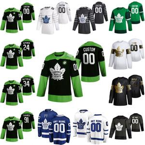 Toronto Maple Leafs jerseys Kevin grava Jersey Justin Holl Martin Marinčin Jake Muzzin Rasmus Sandin Hockey Lucha nCoV cosido personalizada
