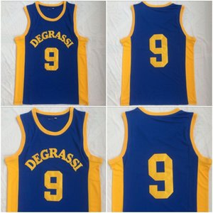 Maglia da basket Degrassi uomo # 9 Drake Jimmy Brooks Degrassi Community School cucita maglia blu Drake Jimmy Brooks