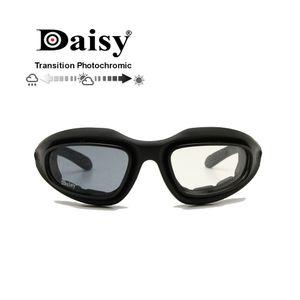 Gafas polarizadas para el ejército Daisy C5, lentes de sol militares, kit de 4 lentes, juego Desert War War para hombres Gafas tácticas deportivas