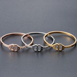bracciale bracciali gioielli in acciaio inox donne gioielli moda in oro rosa di colore polsino aperto gioielli braccialetto fasion