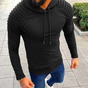 Men Hoodie Sweatshirt Slim Fit Long Sleeve Sweatshirt Solid Color Hooded Casual Men Outwear Autumn Hoodies Sudaderas Para Hombre