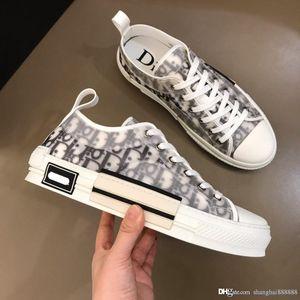 Mens 19 Designer-Schuhe B23 OBLIQUE Gummisohle Low Top Sneaker Schuhe Plattform Männer Schuhe Mode abwehren laufen