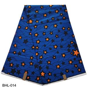 스타 디자인 아프리카 인쇄 왁스 패브릭 앙카라 왁스 직물 의류 소재 BHL-001에 대한 100 % 코튼 편안하고 좋은 품질