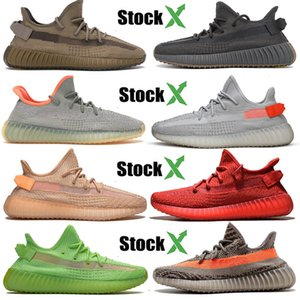 Wholesale 2020 Running Kanye West Mens Womens Shoes Size 13 Earth Desert Sage Tail Light Cinder Static Black Reflective Designer Sneakers