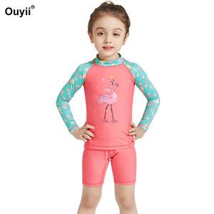 Date enfants maillot de bain rash gardes maillot de bain deux pièces maillot de bain enfants crème solaire maillot de bain combinaison Beachwear Diving Suit Y19062901