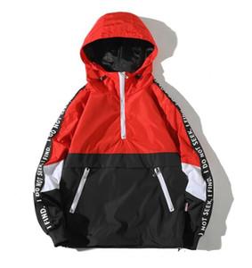 Yizlo ceket rüzgarlık erkekler jaqueta masculina hoodie gevşek fermuar kolej ceketler