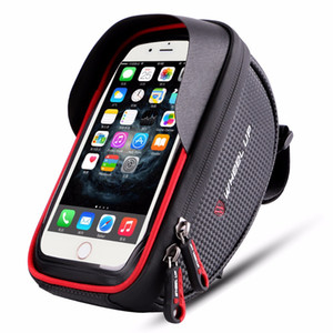 SOONHUA 6.0 inch Waterproof Bike Bicycle Mobile Phone Holder Stand Case Motorcycle Handlebar Mount Bag For iPhone X Samsung LG