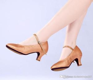 Elástica modernos Sapatos de Champagne, de salto alto de dança de salão Calçados, dança quadrada, solas de borracha