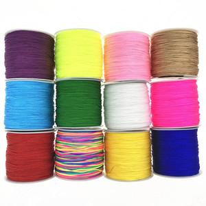 50M / fil de nylon rouleau pour bracelets Collier noeud chinois macramé en nylon Cordon Fil Tressé cordes Outil bricolage Craft