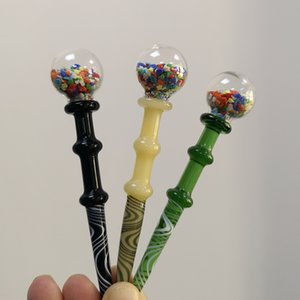 3 Typen Glas Dabber Werkzeuge Wachsöl Tabak-Dab Cap Quarz Banger Nagel Glaspfeife Rauchen Zubehör Dab-Stick Carving-Tool