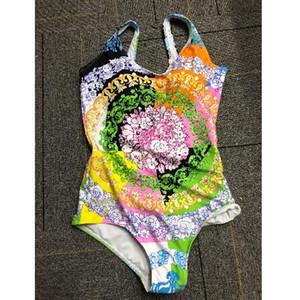 С MAIL BOX Классические цветочные узоры Купальники для женщин отделено бикини One Piece Купальники Backless Sexy Retro Femme Пляжная одежда