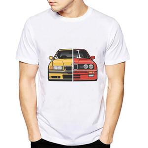 Cool Cars Shirt Men E30 E36 E46 E82 E92 Impreso Tops de verano Moda Camiseta de manga corta blanca Homme Camisetas Hombre Camiseta C19041702