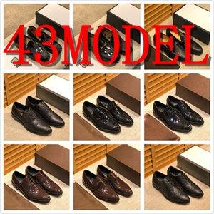 43MODEL Men's Rhinestones Dress Shoes 2019 Luxury Italian Style Fashion Men Formal Shoes Nightclub Wedding Dress Formal Loafers