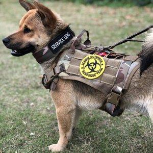 Kol Pet Products ile Taktik Köpek Harness Ayarlanabilir Pet Yaka Orta Büyük Köpek Harness Servis Yelek