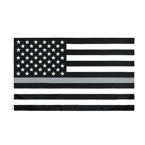 Yehoy 3 5 ile ft Amerikan hattı ince gri düzeltme Görevlisi Kolluk bayrağı Birleşik Devletleri polyester