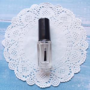 5ml Mini liberi quadrati di vetro smalto bottiglia vuota con la spazzola trasparente smalto contenitori WB1345
